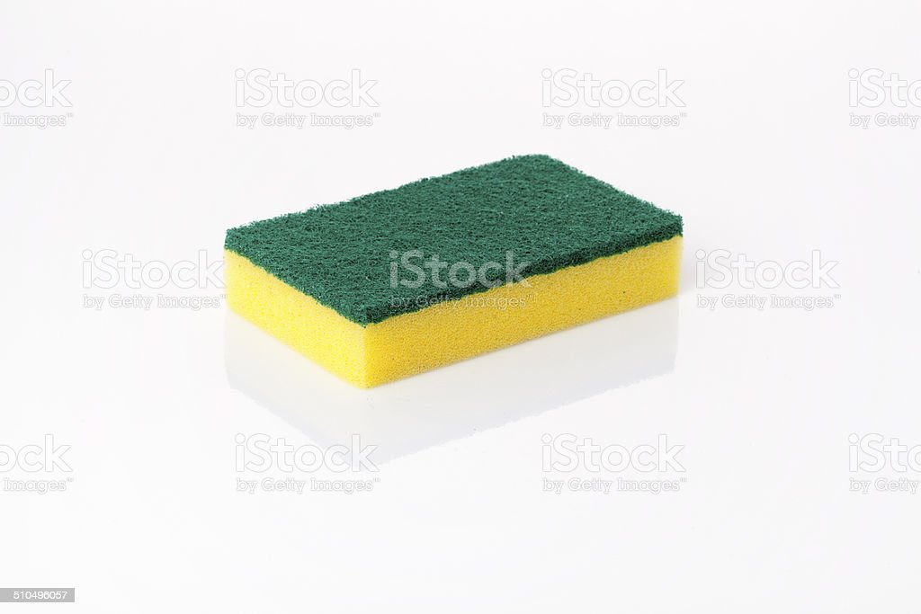 generic scouring kitchen sponge stock photo