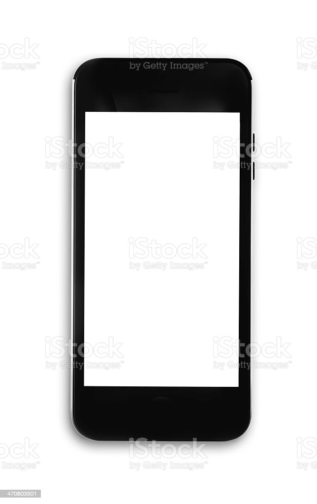 Generic smartphone - isolated stock photo