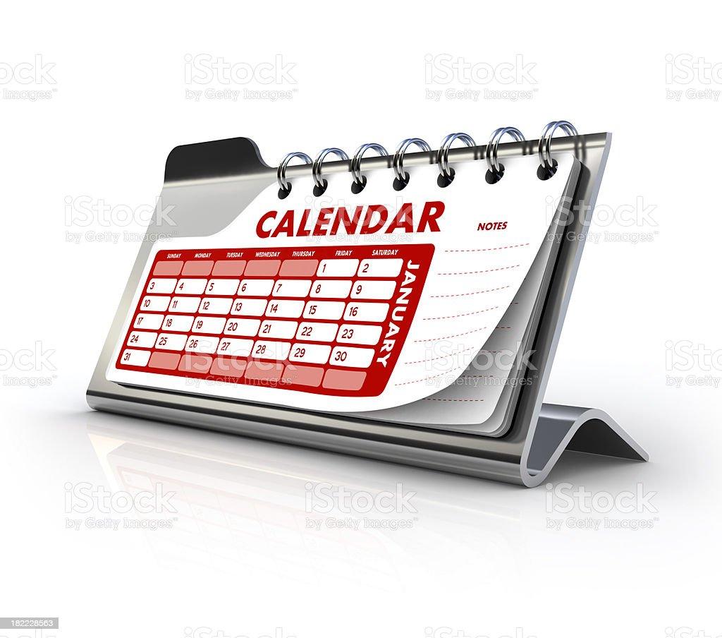 Generic steel Calendar royalty-free stock photo