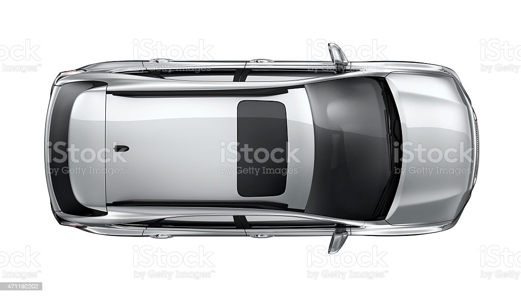 Generic SUV car on white background stock photo