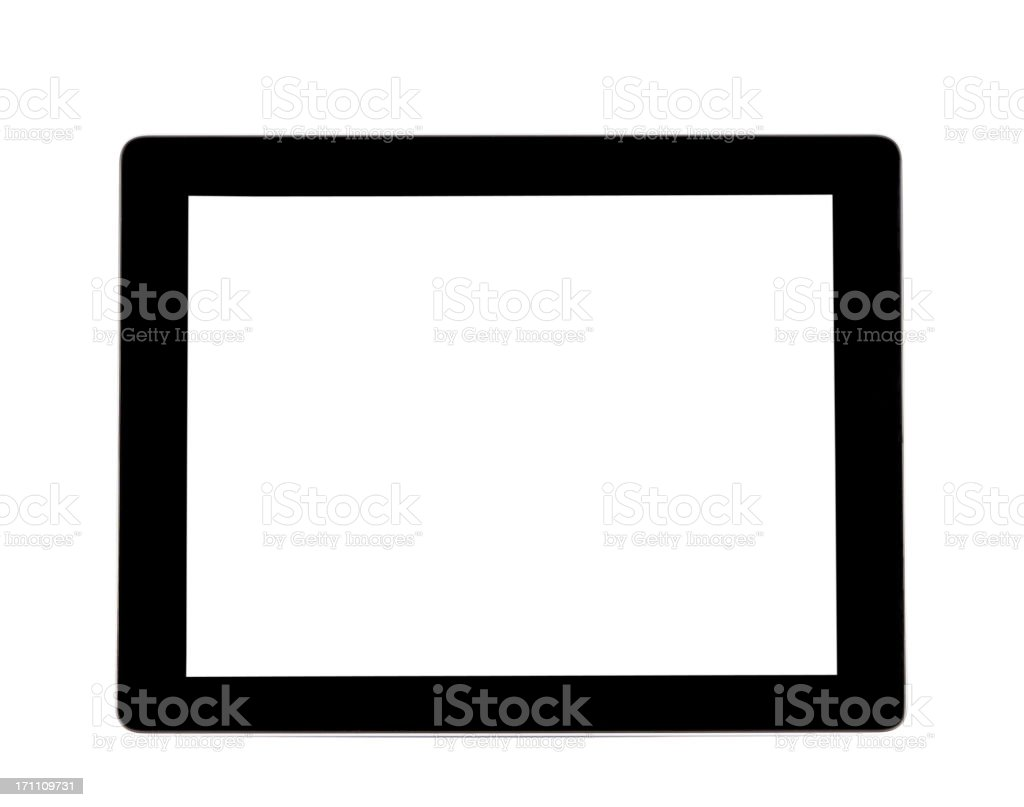 Generic tablet PC with clipping path royalty-free stock photo
