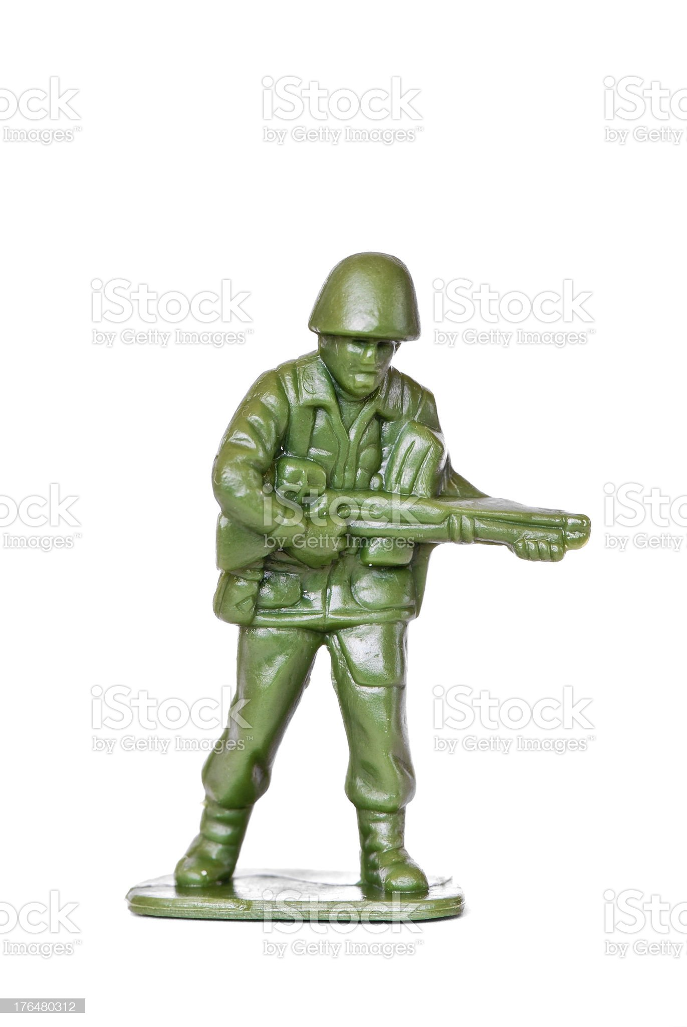 Generic toy soldier isolated on white royalty-free stock photo