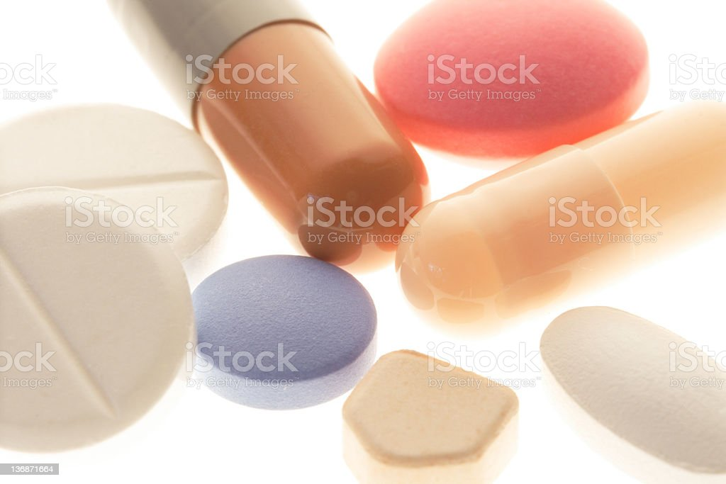 generic varied pills stock photo