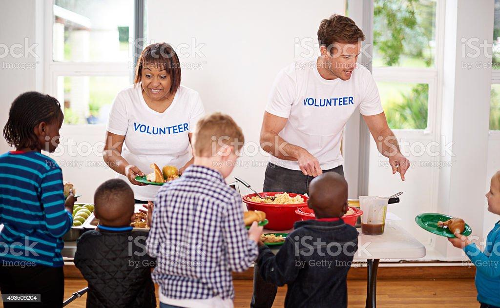 Generosity keeps giving stock photo