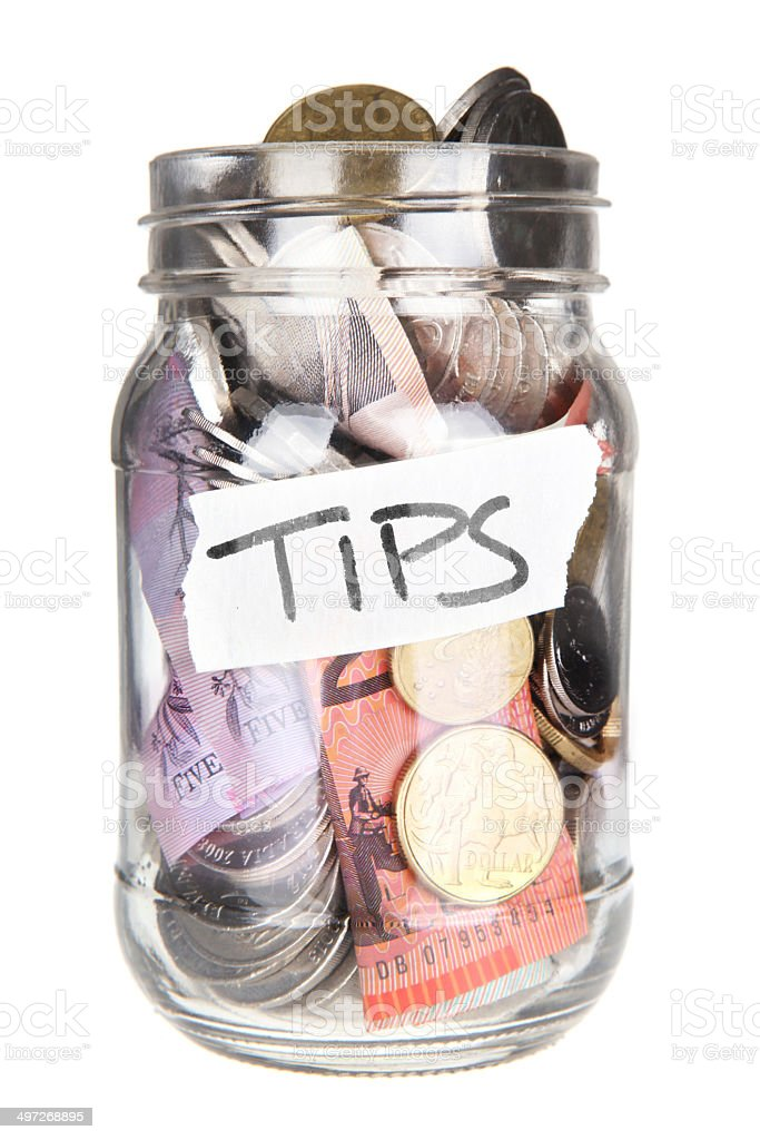 Generous Tips stock photo