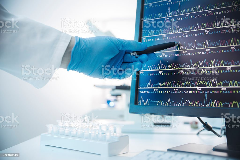 Genetic Analysis stock photo