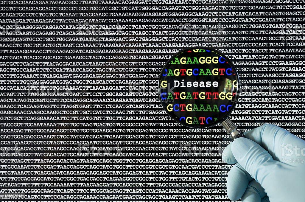 Genetic disease stock photo