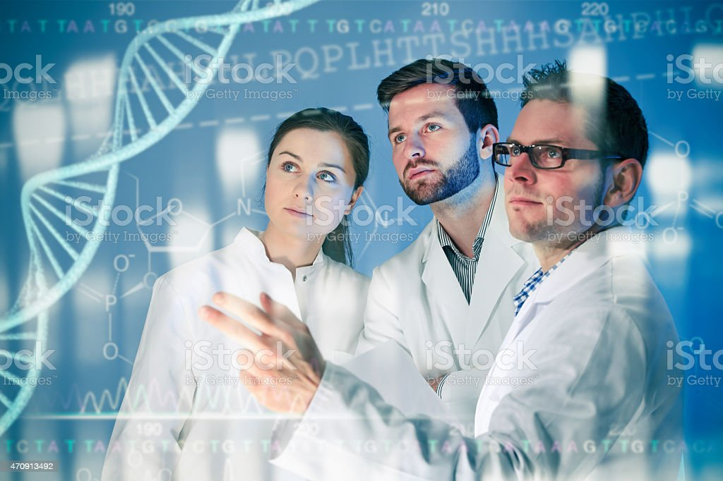 Genetic engineering stock photo