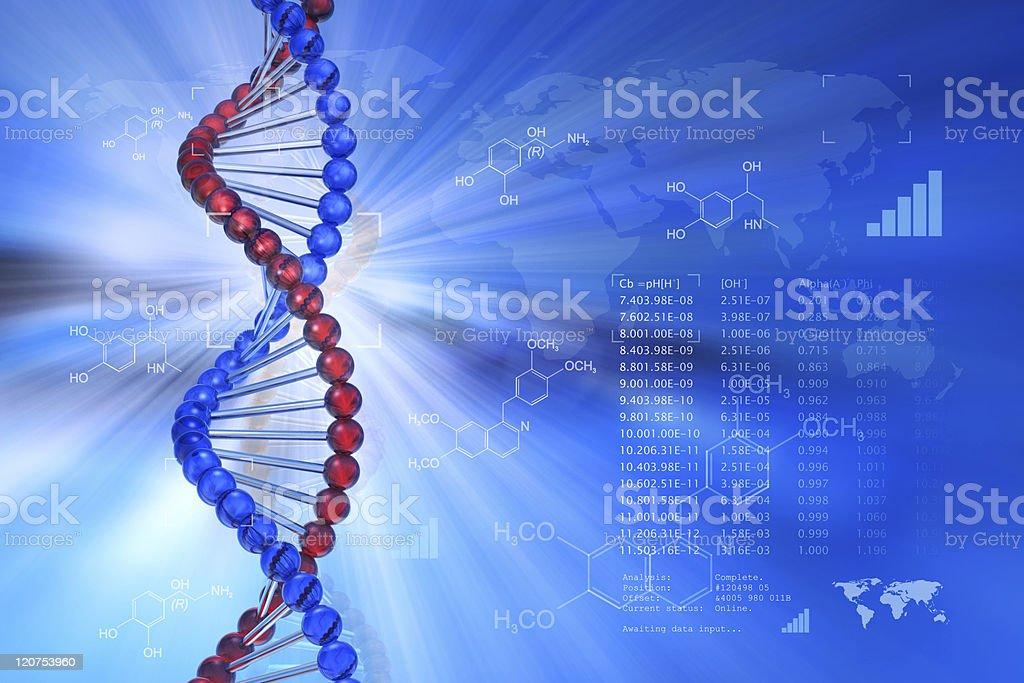 Genetic engineering scientific concept royalty-free stock photo