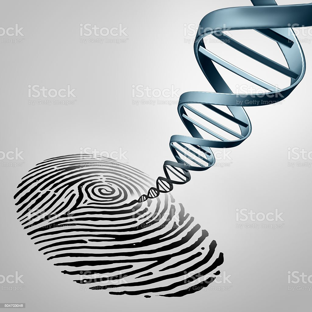 Genetic Fingerprinting stock photo