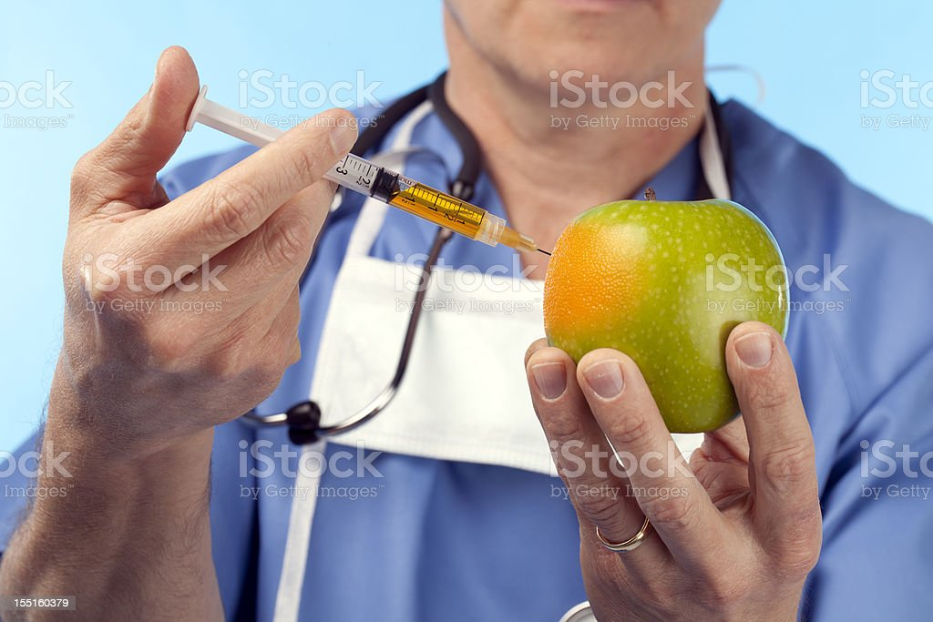 Genetic Manipulation Of An Apple royalty-free stock photo