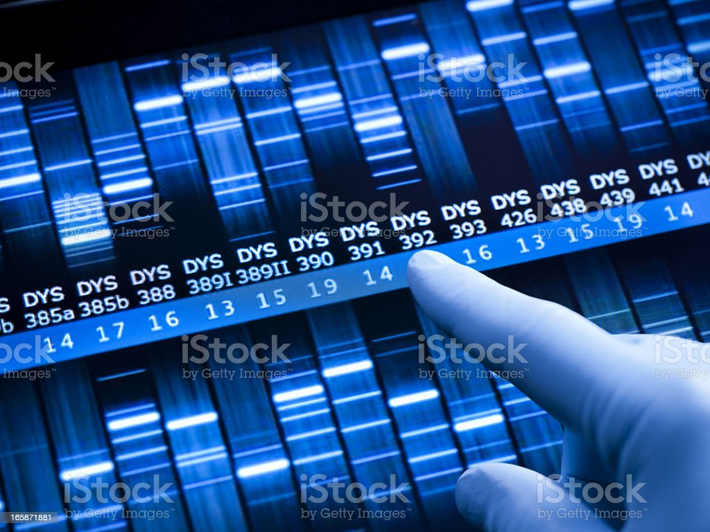 Genetic research at the laboratory stock photo