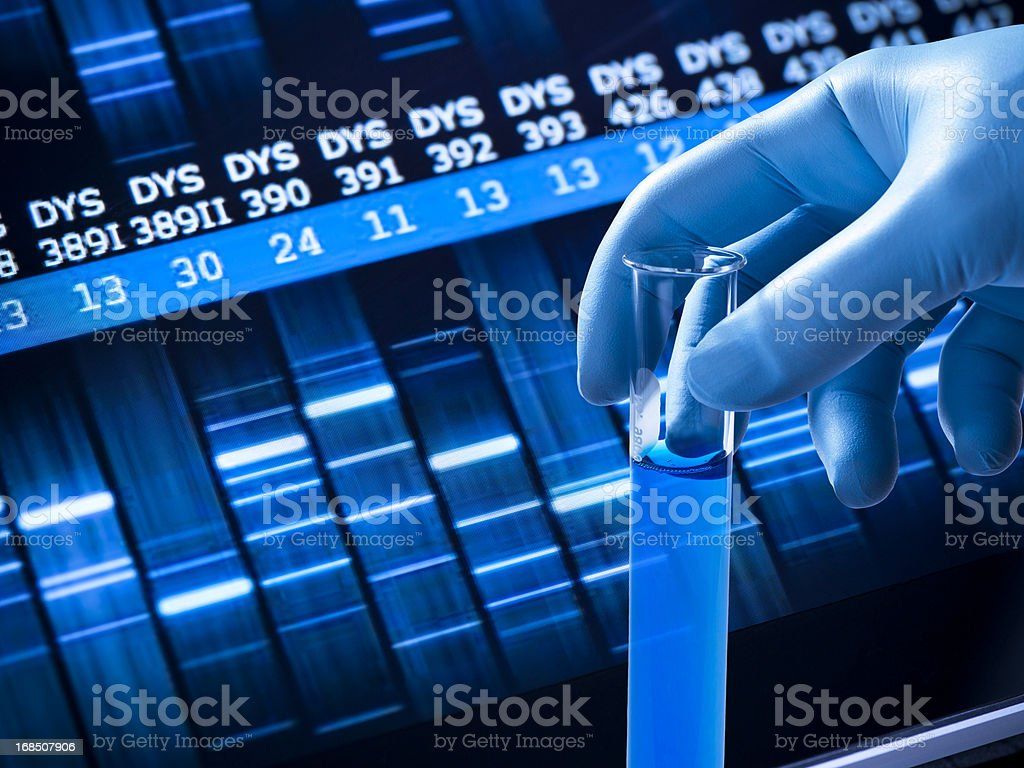 Genetic research at the laboratory royalty-free stock photo