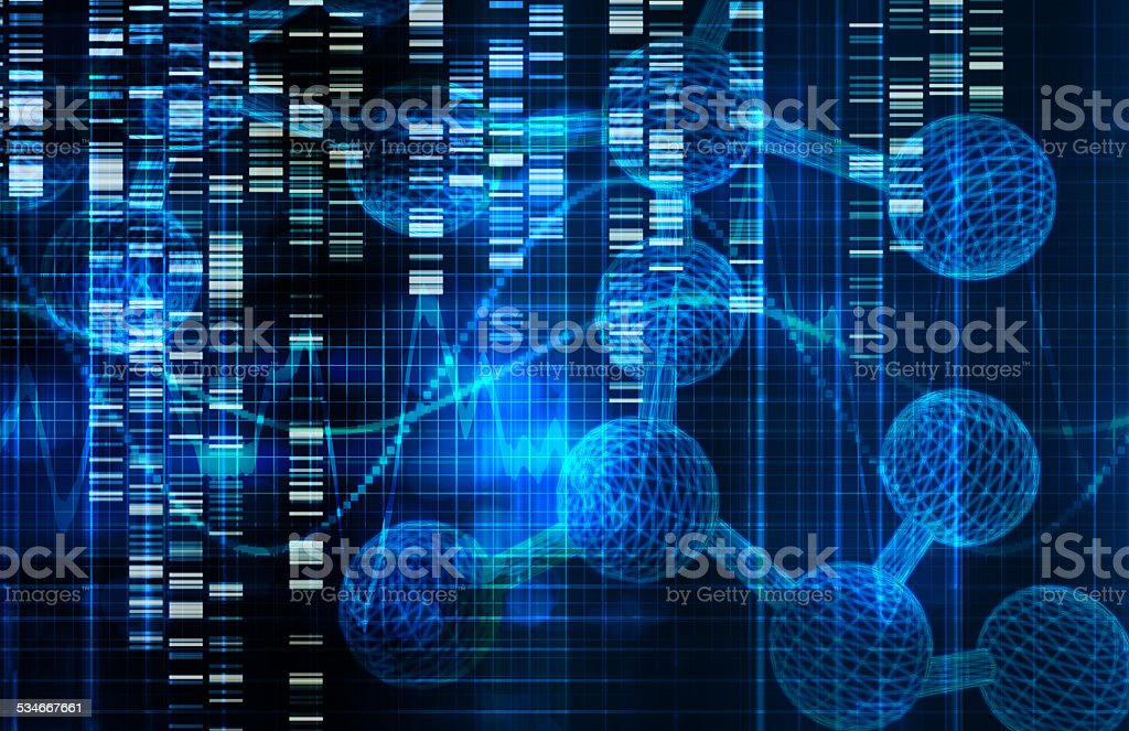 Genetic Science Research stock photo