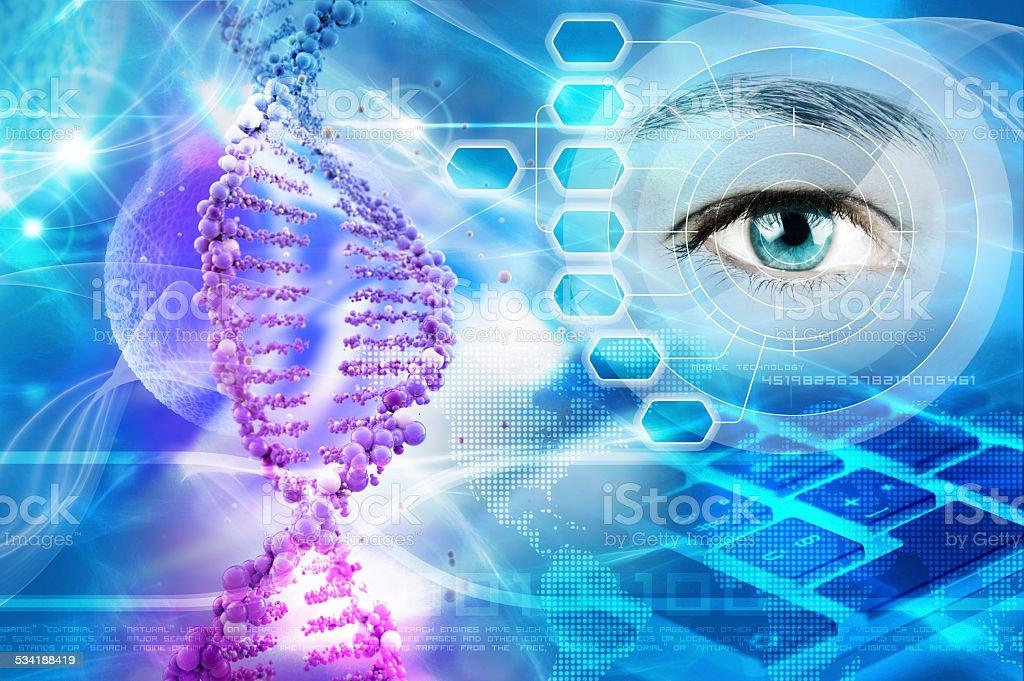 genetics stock photo