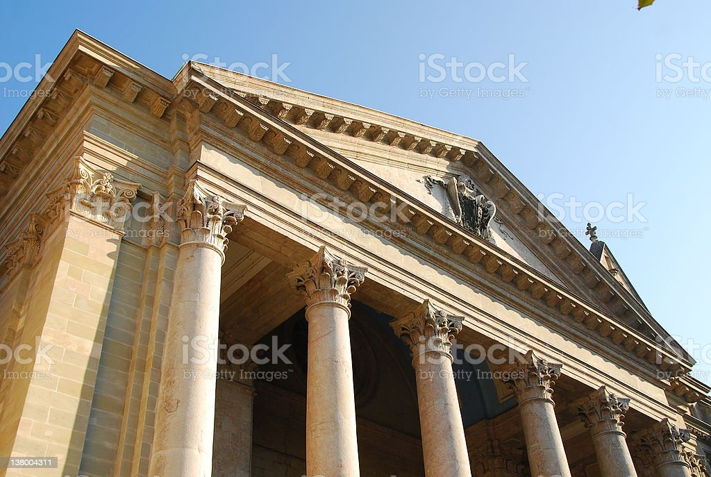 Geneva Cathedral Frontage stock photo