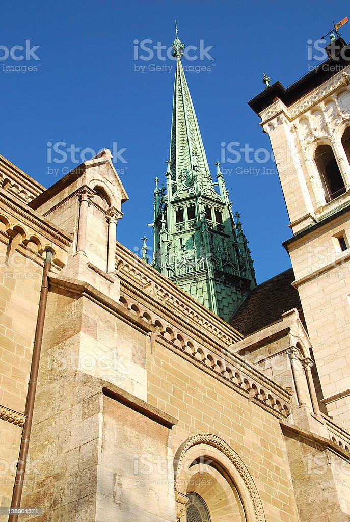 Geneva Cathedral (St Pierre) stock photo