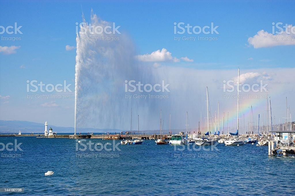 Geneva fountain royalty-free stock photo