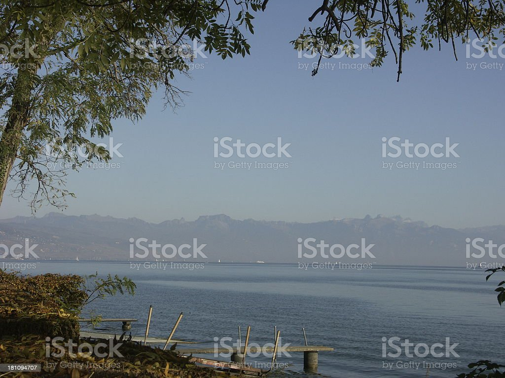 Geneva Lake shore royalty-free stock photo