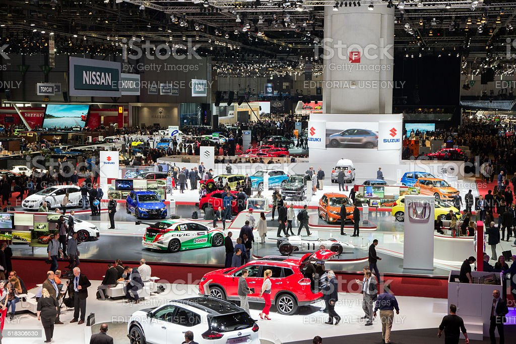 Geneva Motor Show 2016 overview stock photo