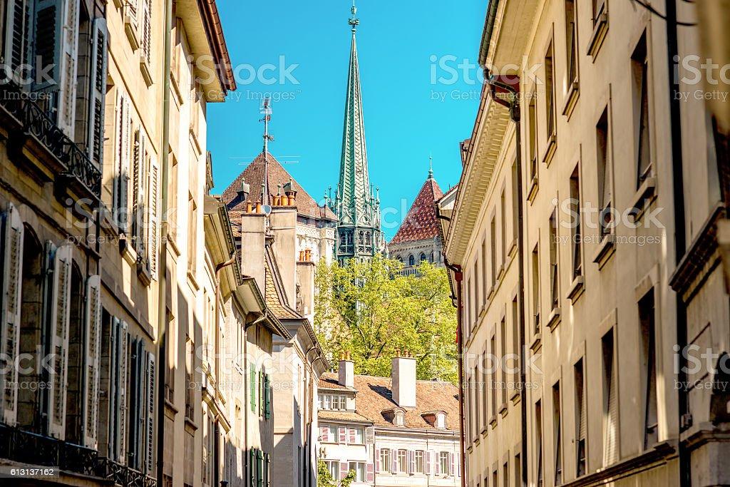 Geneva old town stock photo