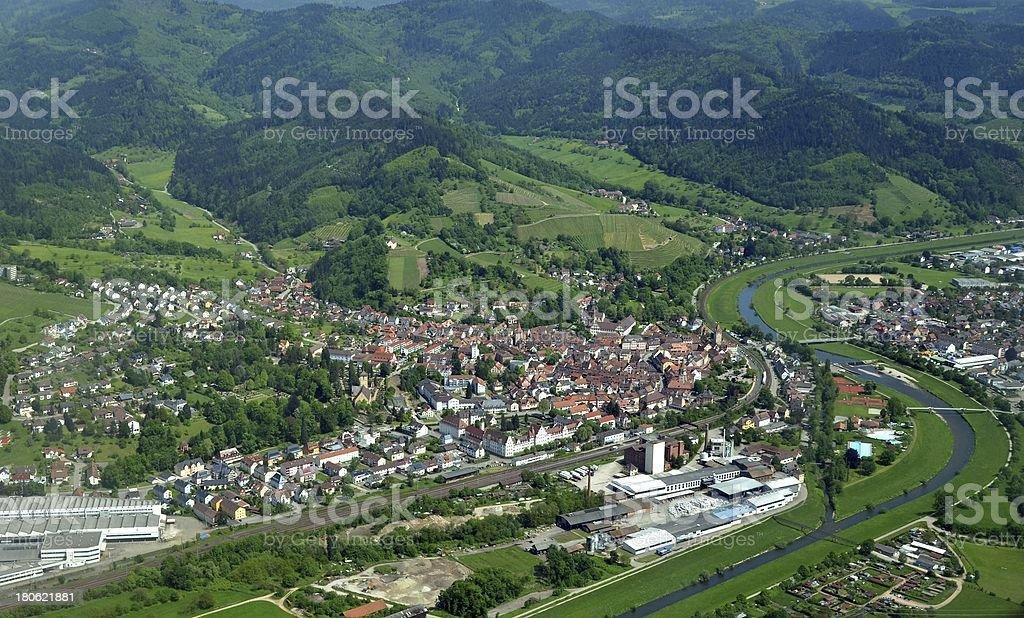 Gengenbach aerial stock photo