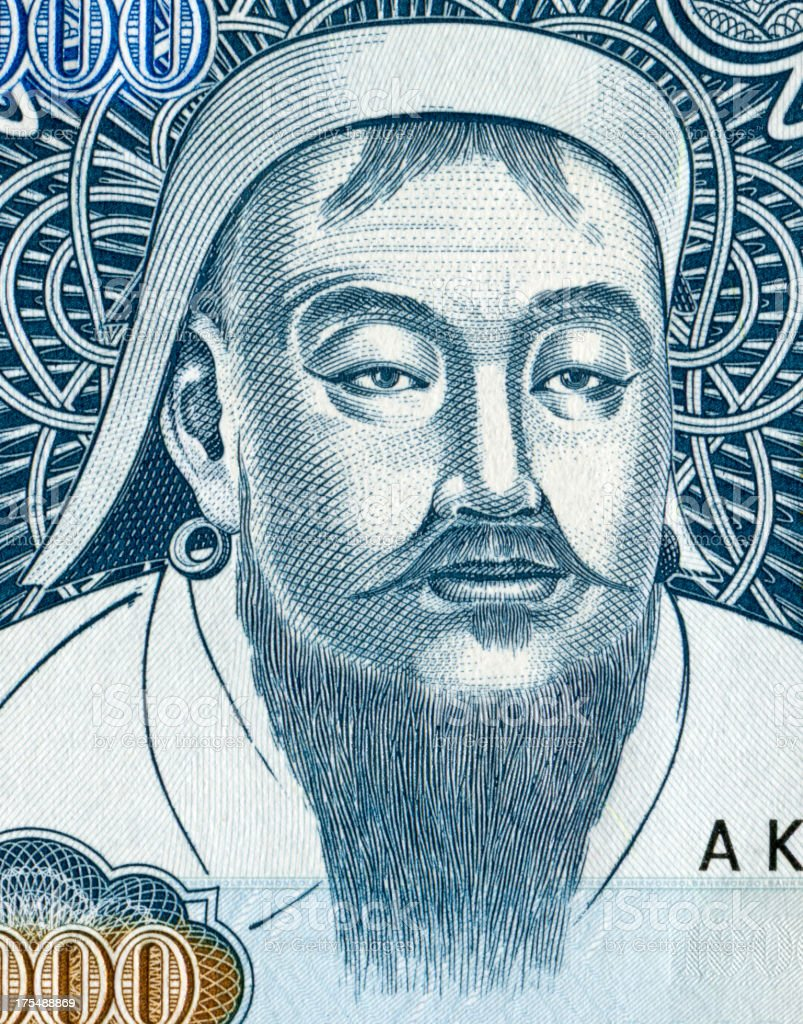 Genghis Khan stock photo