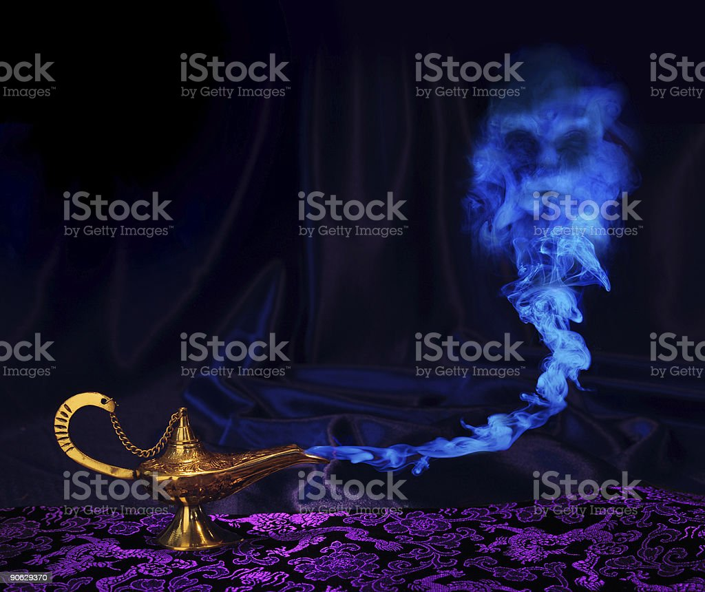 genie-lamp stock photo
