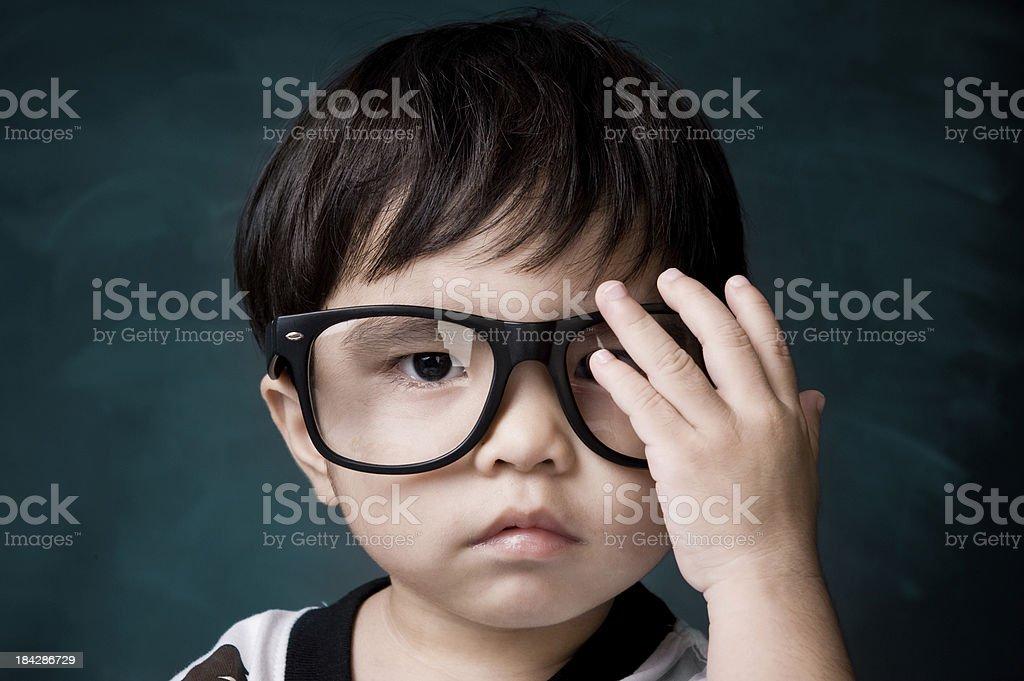 Genius little boy royalty-free stock photo