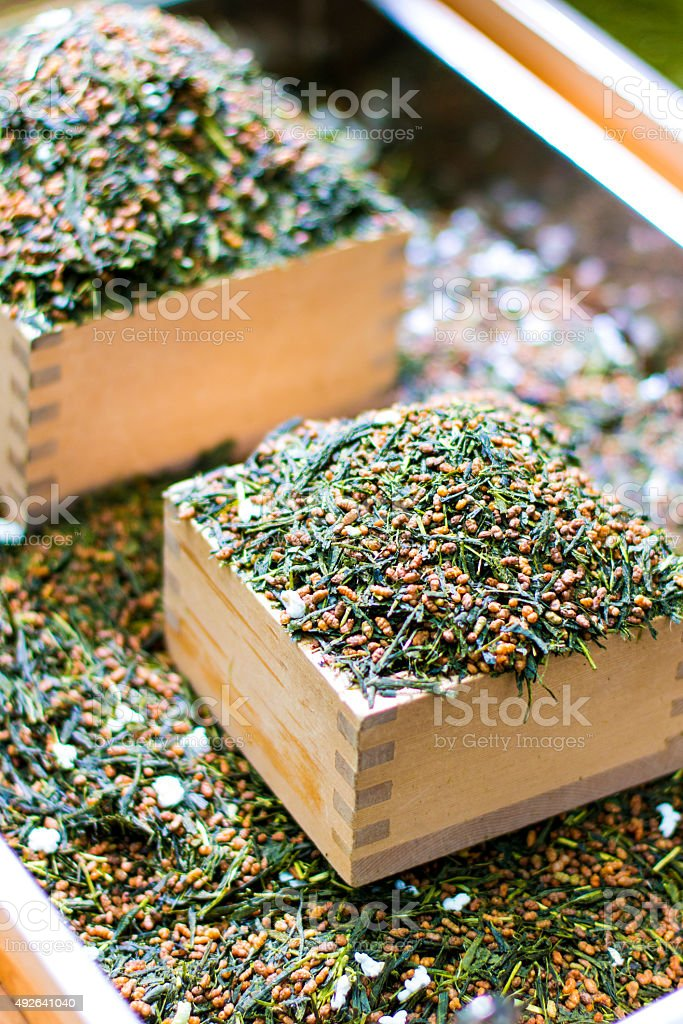 Genmai Tea stock photo
