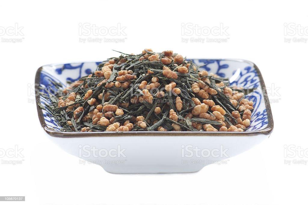 genmaicha tea stock photo