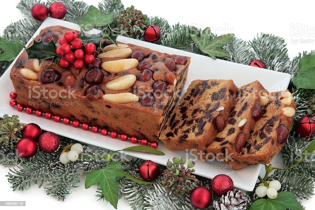 Genoa Cake stock photo
