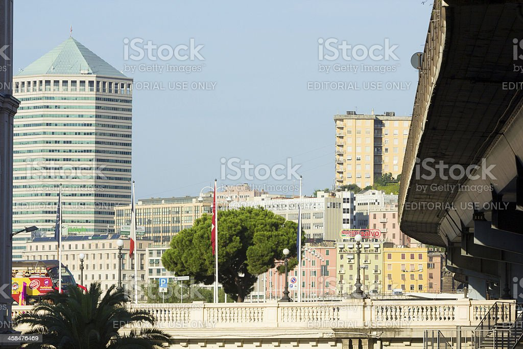 Genoa in Liguria, Italy stock photo