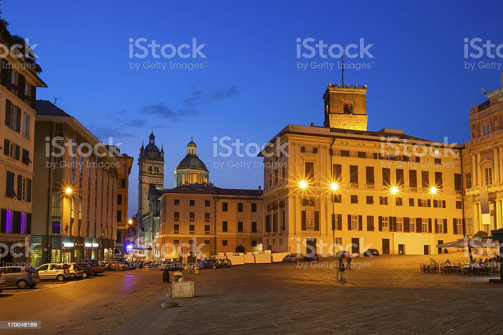 Genoa Italy Downtown Piazza Matteotti stock photo