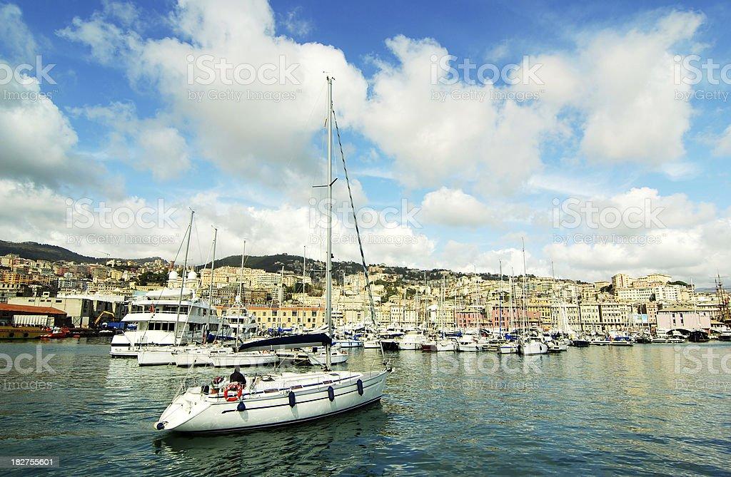 Genoa Marina stock photo