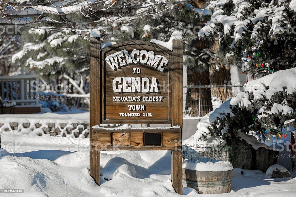 Genoa, Nevada's Oldest Settlement stock photo