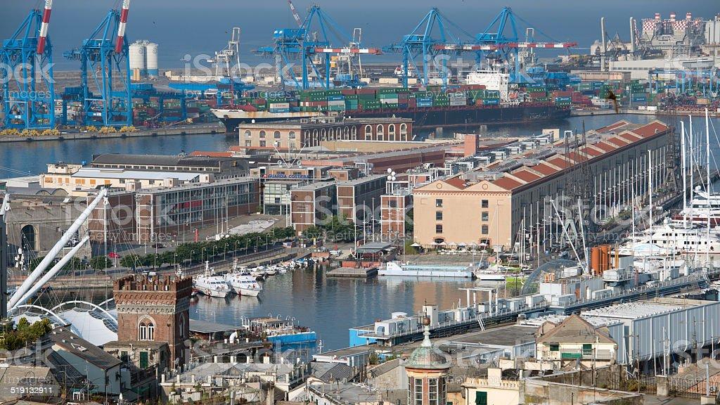 Genoa old harbor royalty-free stock photo
