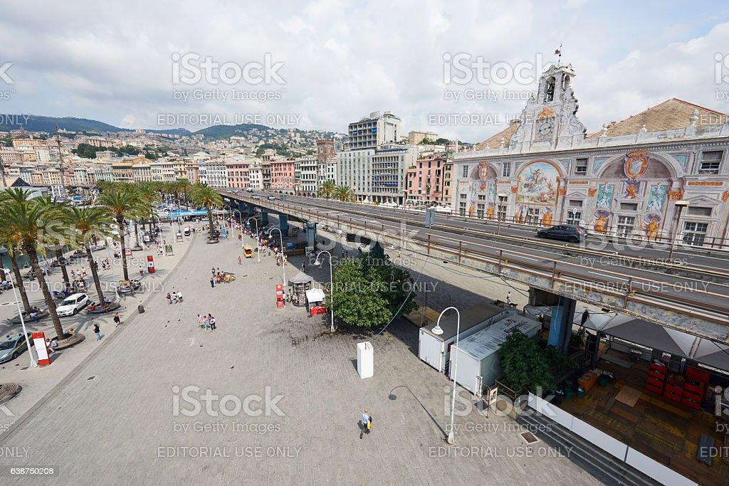 Genoa Old Port Area stock photo