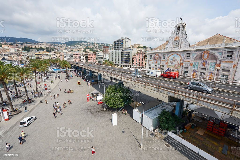 Genoa Old Port Area stock photo