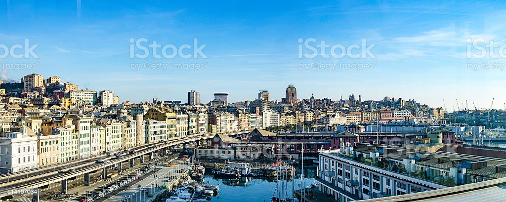 Genova panorama stock photo