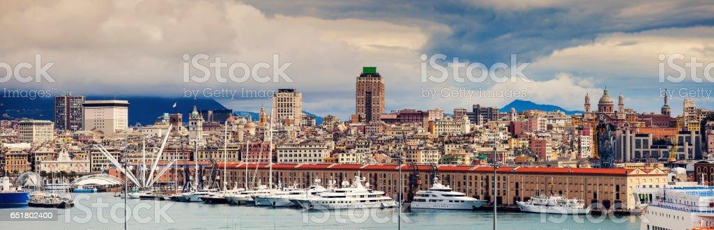 Genoa - panoramic view of the city stock photo