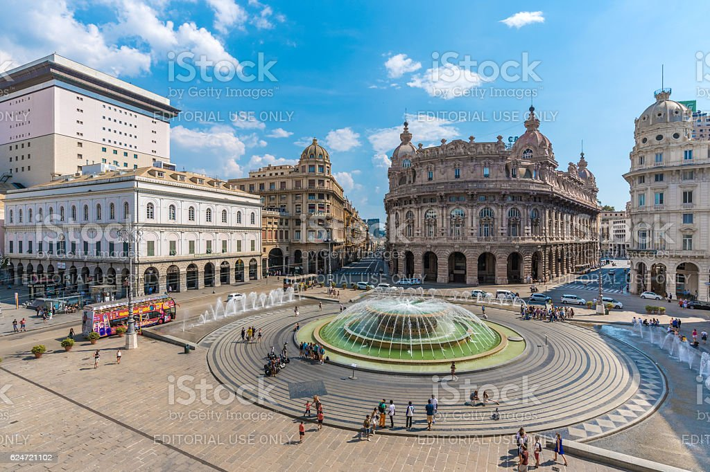 Genoa, the capital of Liguria region (Italy) stock photo