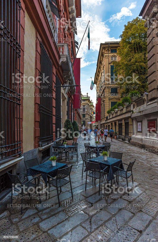 Genoa, the capital of Liguria region (Italy) stock photo