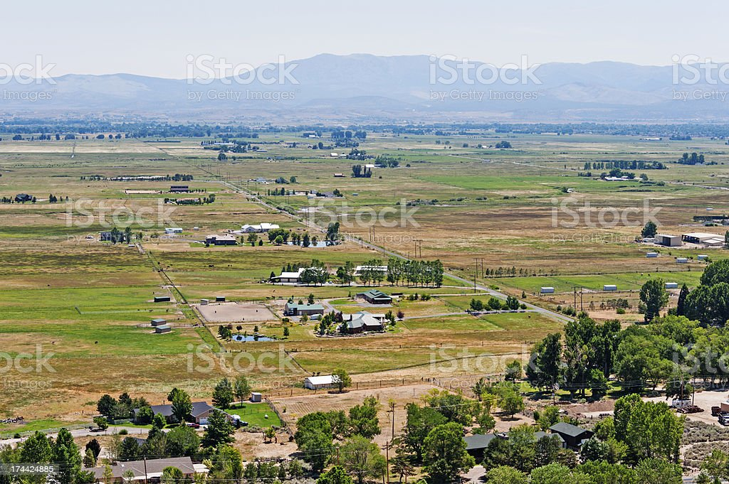 Genoa Valley from Above royalty-free stock photo