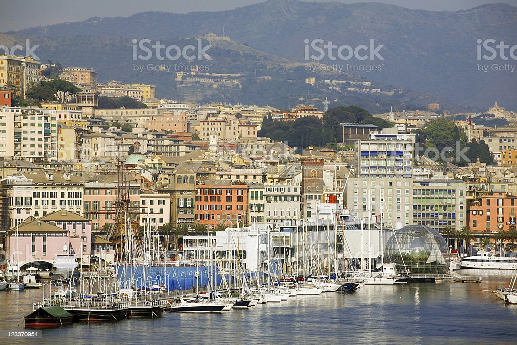 Genoa view. stock photo