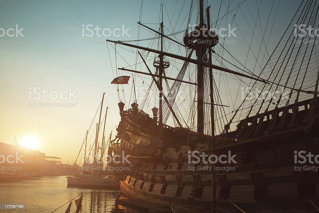 Genoa view stock photo
