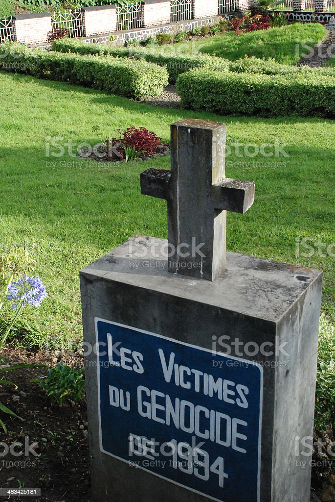 Genocide Memorial Cross Musanze Rwanda Central Africa stock photo