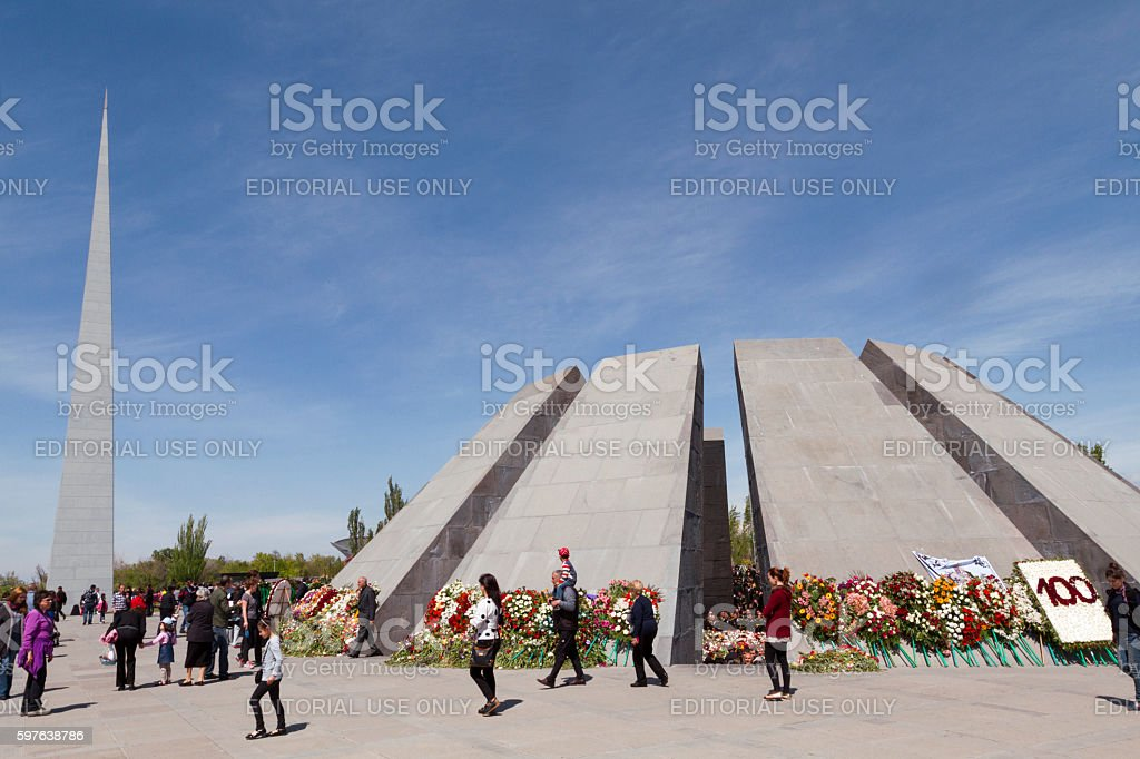 Genocide monument in Armenia stock photo