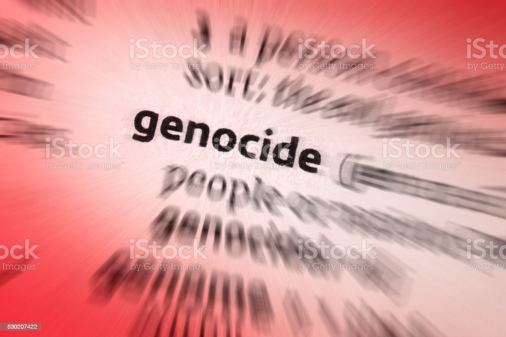 Genocide stock photo