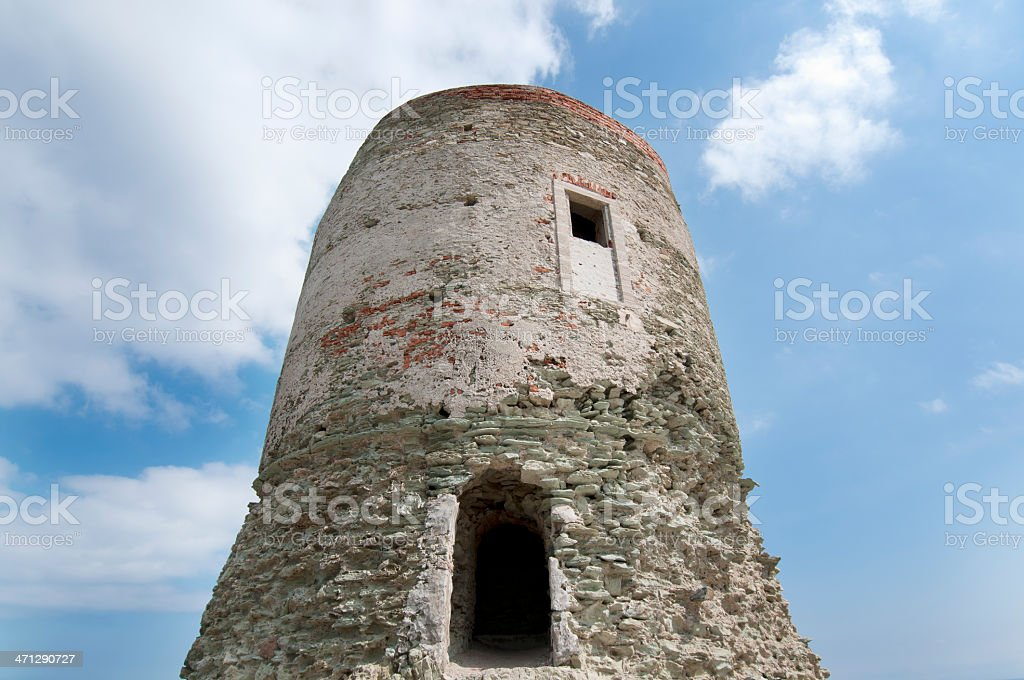 Genoese tower D' Agnello stock photo